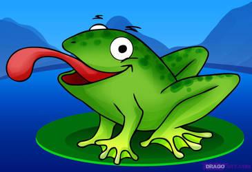 Cartoon Frog by Dragon-Queen01456