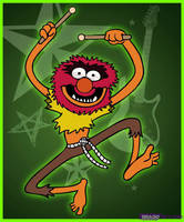Animal from The Muppets by Dragon-Queen01456