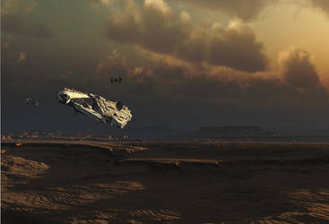 SW Millenium Falcon study by edlo