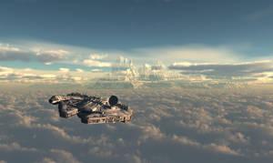 SW Millenium Falcon study 3 by edlo