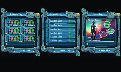 Mobile Sci-Fi Game Interface by SteelBolt
