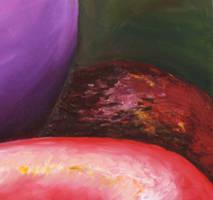 rotten apple detail by fieryfae
