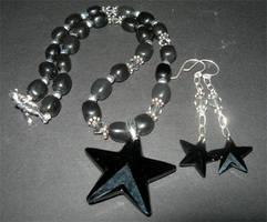 Black Star Necklace by fieryfae