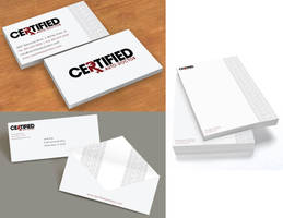 Certified Auto Doctor Logo and Stationery by jkrout555