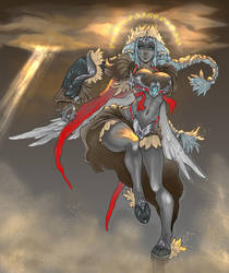 Daimida's Warrior by night--wind