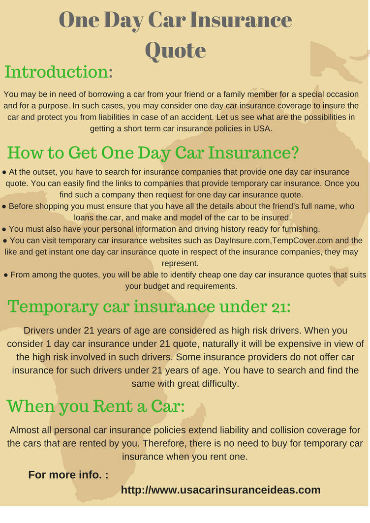 One Day Car Insurance Quote By Justinehenderson On Deviantart