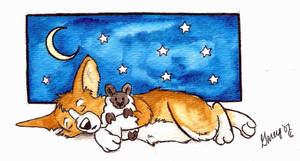 Sleepytime Corgi by Ashwin24