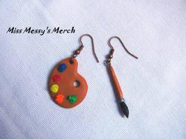 Earrings for painters by kolkrisz