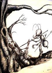 The Impaler Ant by nerjal