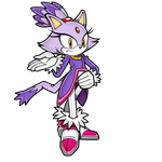 Blaze the Cat Pose-1 by thekingdog