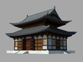 a Japanese temple - gameready by vankata