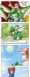 My tribute - Scyther can't fly by rounindx