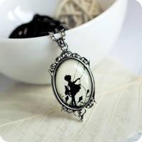 Little Girl Silhouette pendant by BeautySpotCrafts
