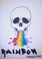 Skull Rainbow revisited by Ookamiokoto