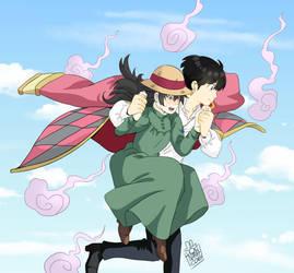 Nancy and Taro crossover by dokinana