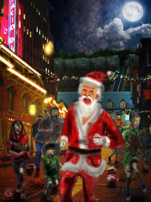 Merry Zombie Xmas by tahonard