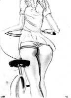 Elle aime faire du velo - moi aussi v881 by lv888
