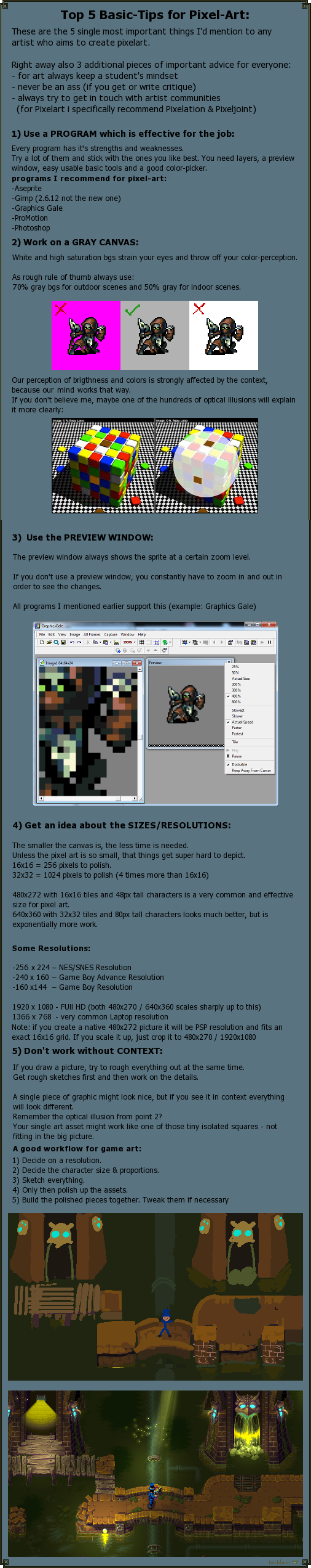 Top 5 Basic Tips For Pixel Art By Cyangmou On Deviantart