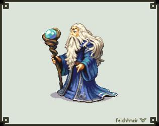 Archsage Athos - Fire Emblem 7 - Hi Bit by Cyangmou