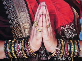 Namaste by aixado