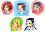 W.I.T.C.H. Sketches by gabmadrid