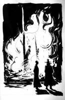 Chatting near bonfire by Max-Kneht