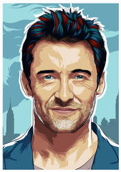Hugh Jackman Portrait by RamyHazem