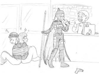 Batgirl Victory Slurpee by Annie13