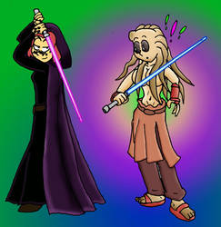 Jedi Anne and Robin 2 by Annie13