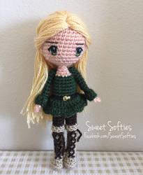 Elvira the Woodland Elf (Amigurumi Crochet Doll) by Sylemn