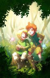 Eliam and Flynn by Fernosaur
