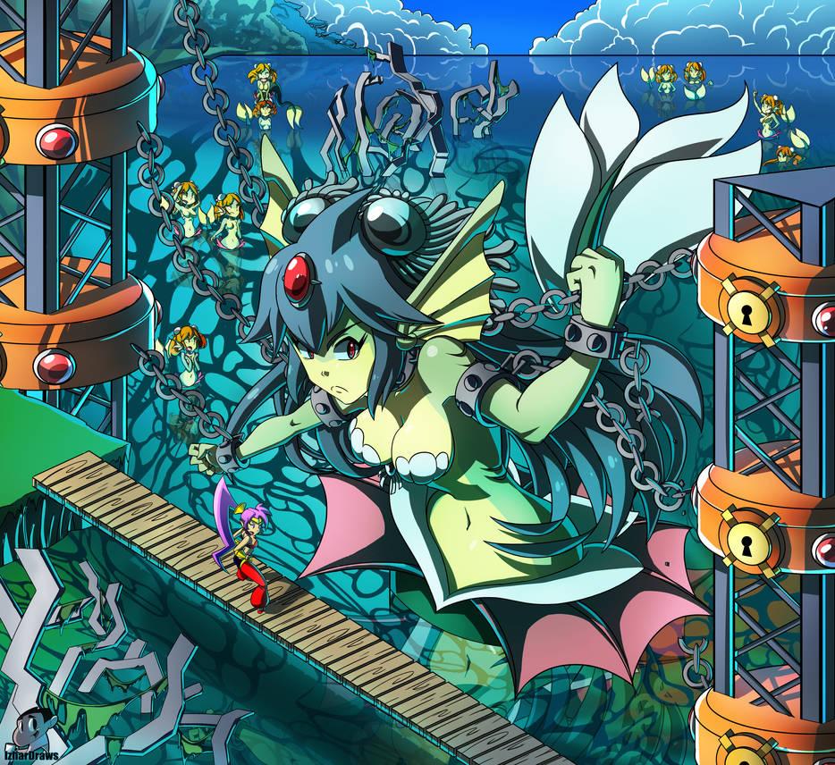 shantae halfgenie hero mermaid queen by izhardraws on