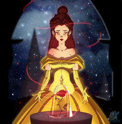 BELLE and The Enchanted Rose by IzharDraws