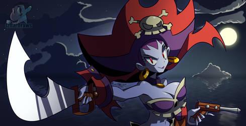 Shantae: Half-Genie Hero RISKY BOOTS by IzharDraws