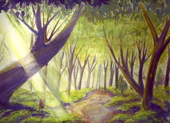 Forest Scene by indigofox