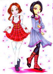Seifuku Fashion: Nanaka and Shinobu by nanako87