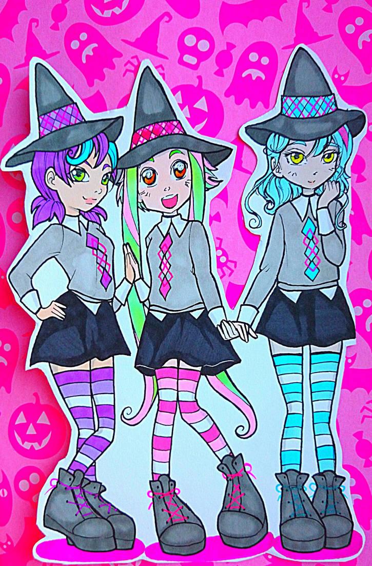 Witchy Gang Charcia Melissa Mika by nanako87