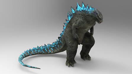Godzilla render #5 by papkapapka