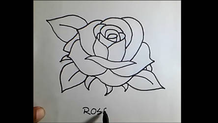 Drawing I How To Draw A Rose Flower Step By Step By Annecouncil On