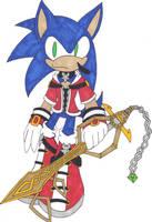.:Keyblade Wielder Sonic:. by TeaLadyC8LIN