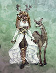 Deer Goddess in Colour by Shakoriel