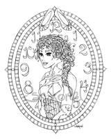 Cinderella (lineart) by Shakoriel
