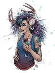 Deerpunk Girl by Shakoriel