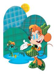Art of Minnie Mouse: Loch Ness Minnie by jeftoon01
