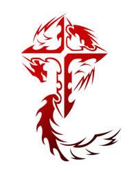 Cross Tribal v4 Red by kuroakai