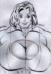 T H I C C Power Girl (Inktober) by fmvra1s