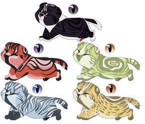 Voltron Themed Adopts (3/5) by Kittysoul99