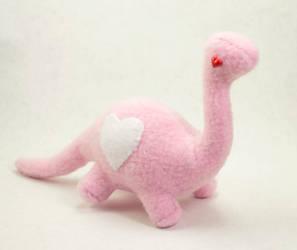 Pink Love Dino Plush by BeeZee-Art