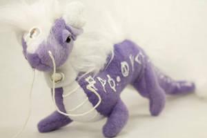 Purple Dragon Plushie by BeeZee-Art