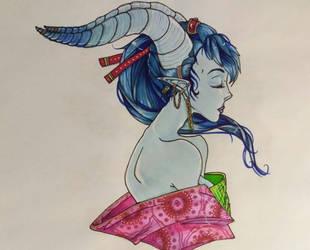 Blue beauty by OkayJessiJay